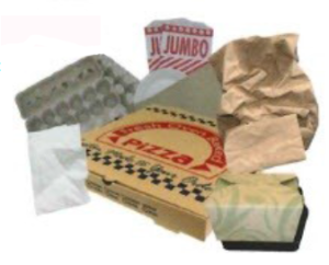 Pizza box and other acceptable papers